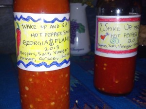 Labelled Hot Sauce