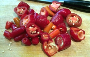 Chopped Red Jalapenos