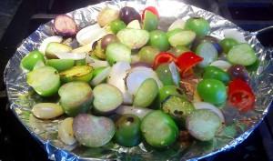 Charring the Tomatillos