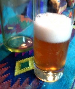 Foamy Kombucha Glass