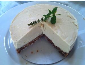 Finished Cheezecake Cut Open Creamy