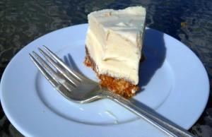Finished Cheezecake Slice Eaten Up