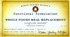Liquid Hope Package Label