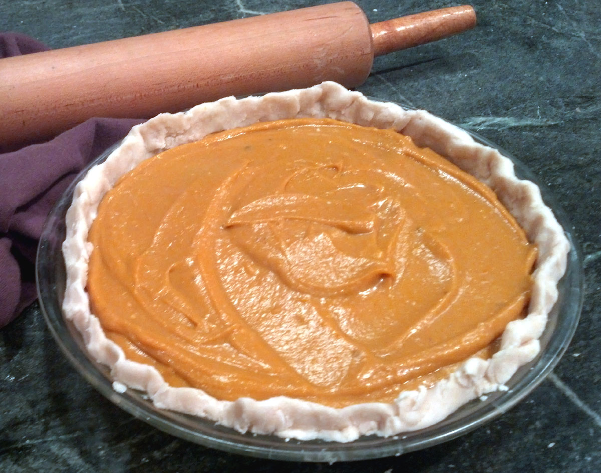 how to bake a sweet potato pie