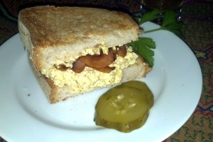 No Egg Salad Bacon Sandwich