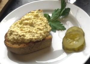 No Egg Salad Open Sandwich