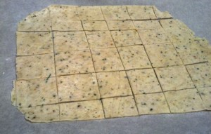 Herbal Crackers Cut-up