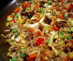 Nasi Goreng Pan Close Up