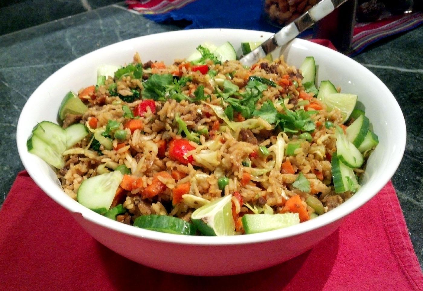 Nasi Goreng Indonesian Fried Rice Vegan Style Wakeupandeat