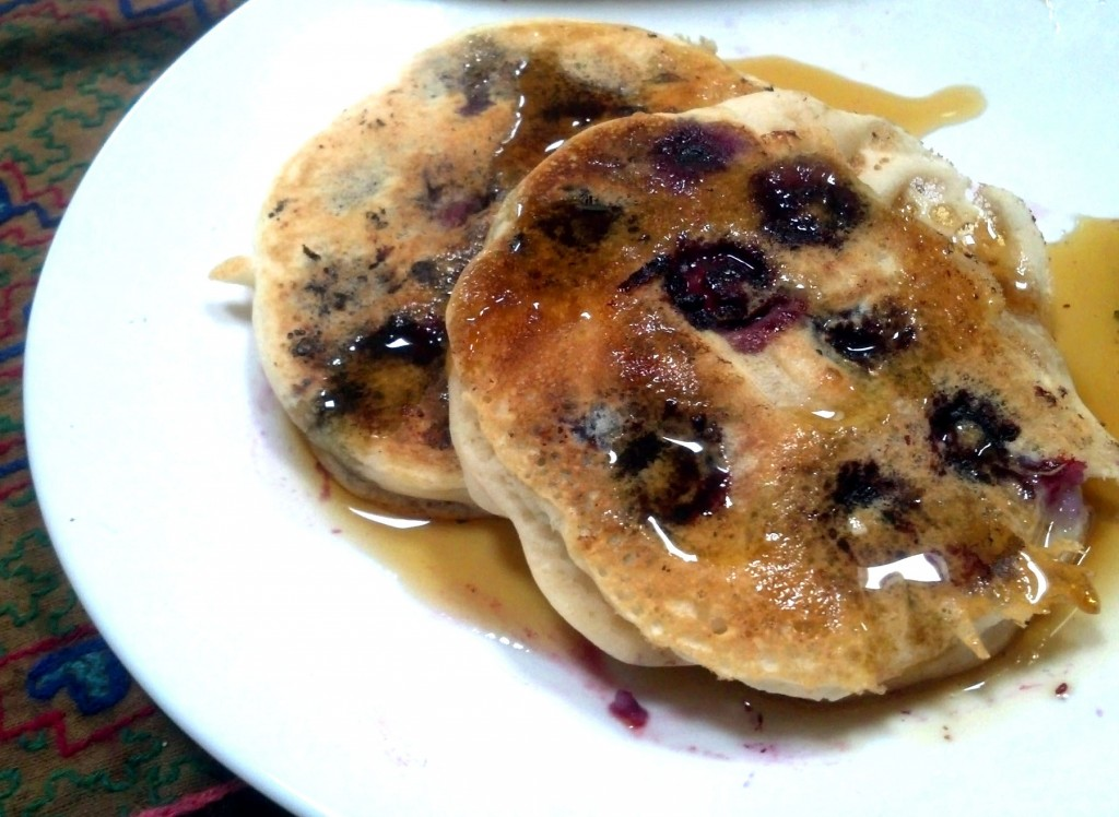 Happy Morning Fluffy Blueberry Pancakes (Vegan)