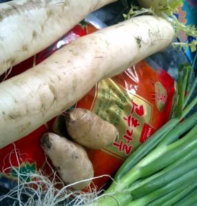 Daikon Kimchi Ingredients
