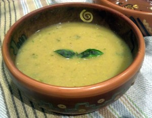 Zucchini Soup Close Up