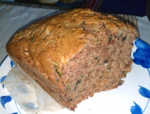 Zucchini Loaf Cake Half