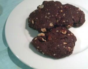 Choc Hazel Cookies Plate