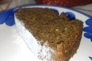 Spice Cake Cut Slice Close Up
