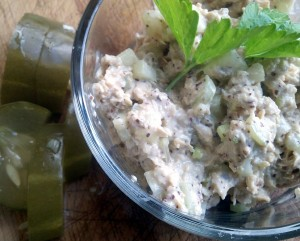 Tofu Tuna Salad Close Up
