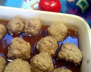 Cooking Vegan Whatballs Oven