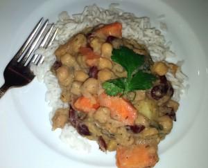 Jamaican Coconut Bean Stew Plate