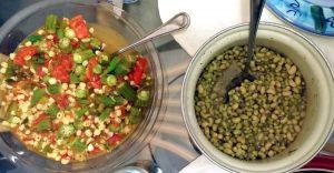 White Acre Peas and Corn Okra Veg Saute