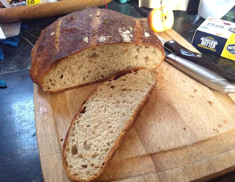 Crusty Artisan Bread -Tweaking Jim Lahey's Method